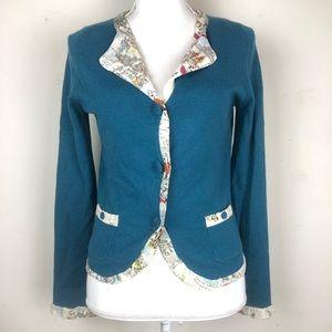 Anthropologie HWR Equestrian Cardigan Sweater Sm